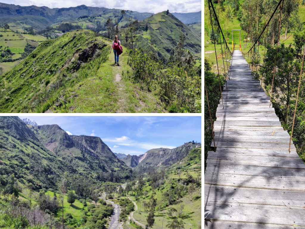 Quilotoa Loop trek from Chugchilan to Isinlivi: crossing Toachi Canyon