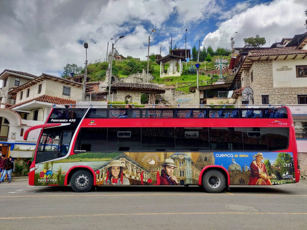 Double Decker Sightseeing Cuenca Hop-on Hop-off Bus Tour in Cuenca Ecuador