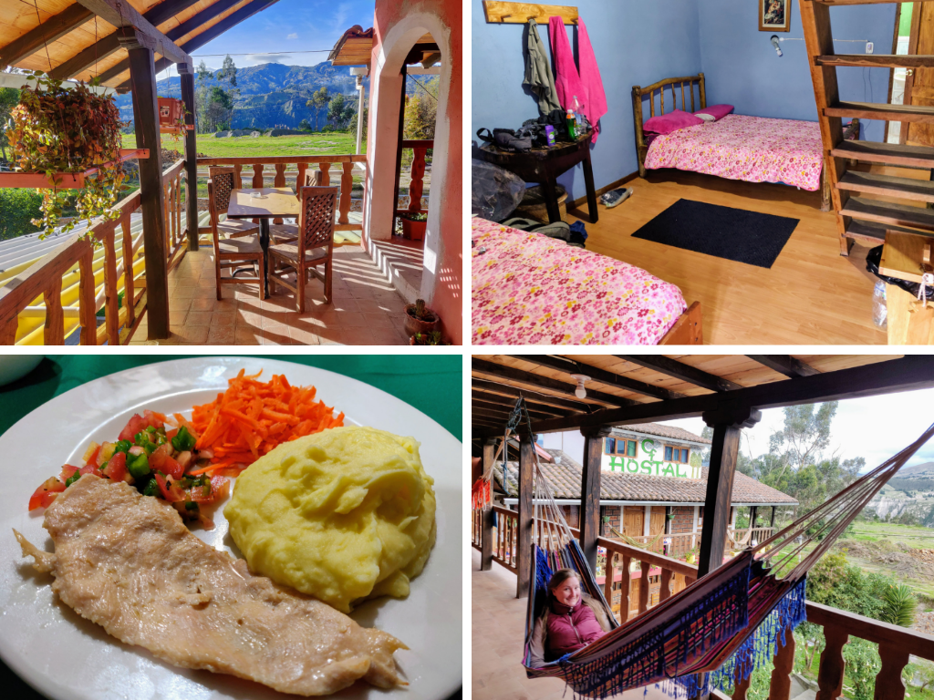 Hostal Cloud Forest Chugchilan: outdoor area, private room, dinner, and hammock
