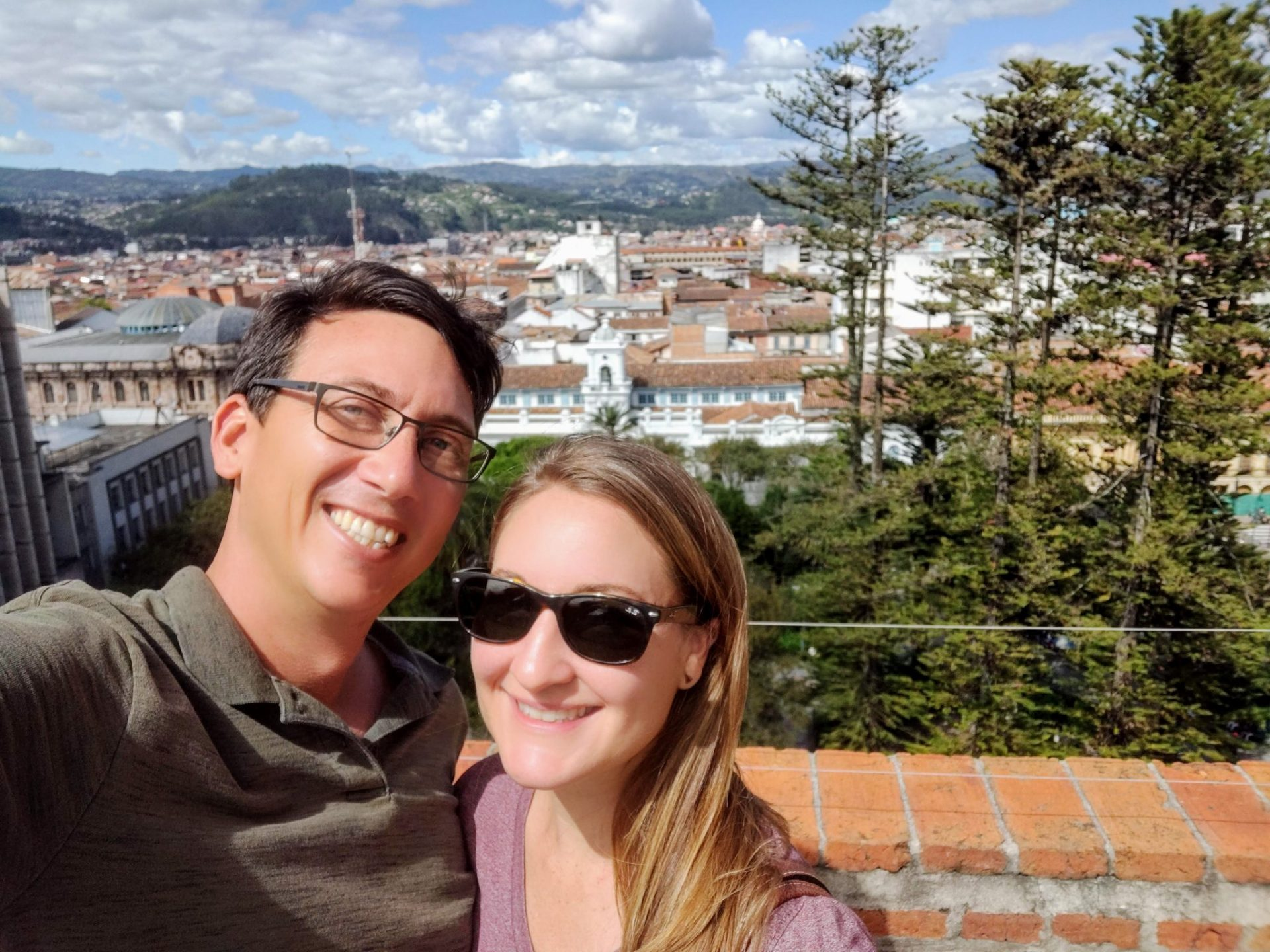 John & Heather taking a selfie in Cuenca Ecuador