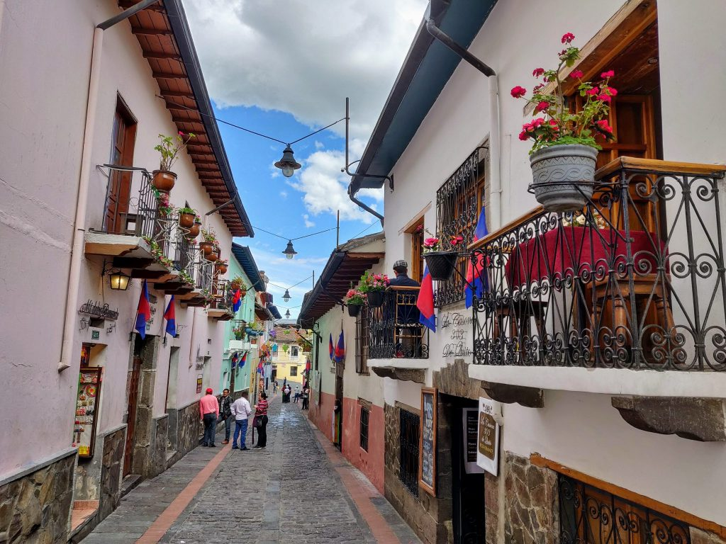Walking down La Ronda Street is one of the best things to do in Quito Ecuador