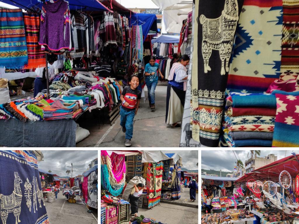 Otavalo craft market in Ecuador