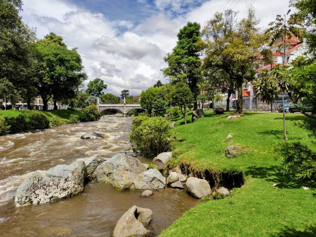 Tomebamba River in Cuenca Ecuador