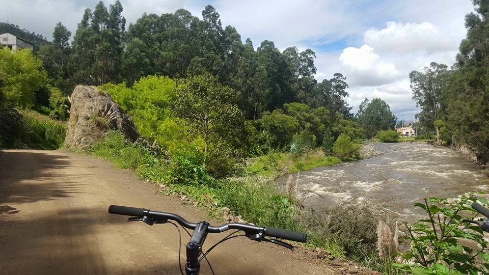 bike riding Tomebamba River