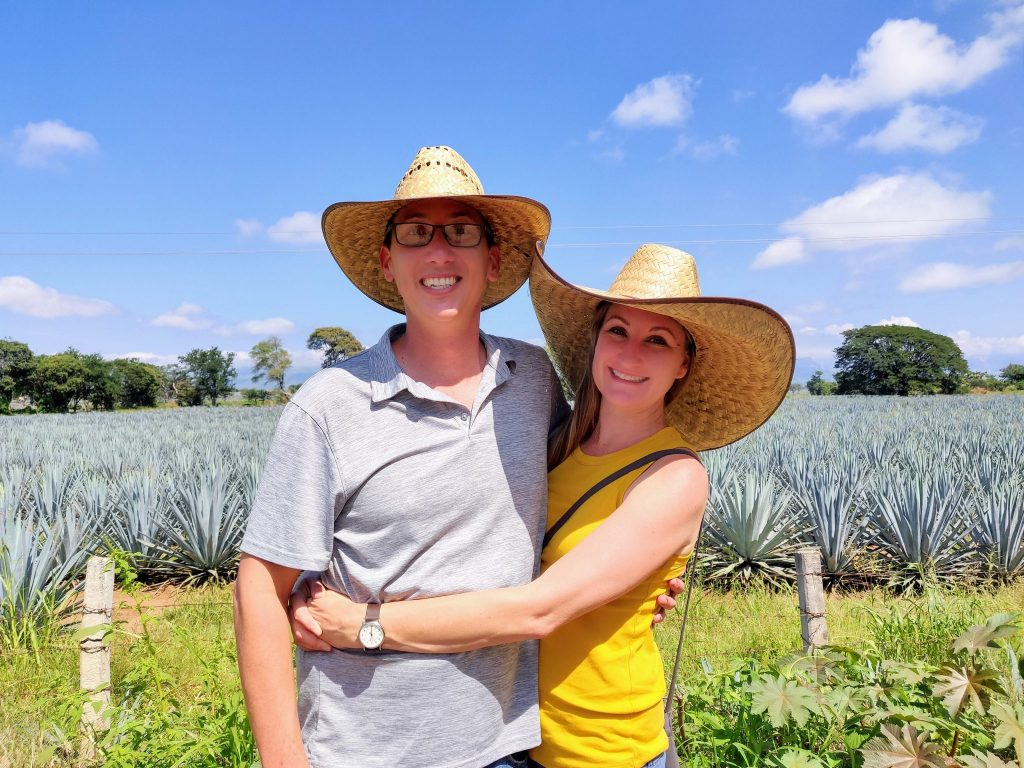 John & Heather at agave fields