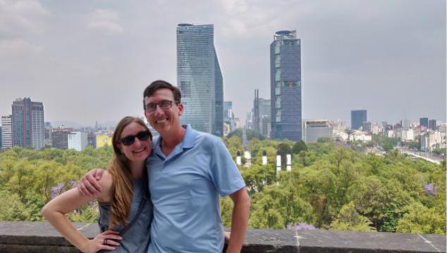Heather and john mexico city skyline