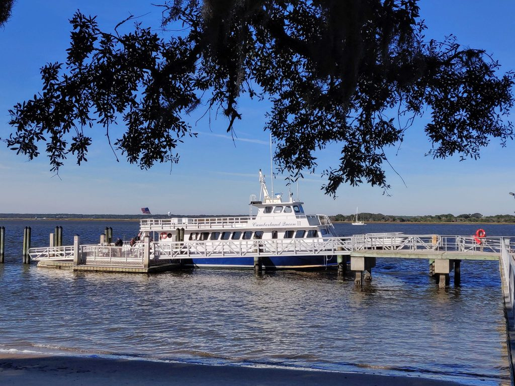 Cumberland Island ferry docked at Sea Camp