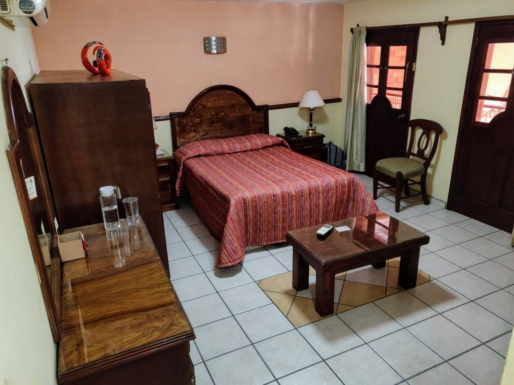 Plaza Jardin hotel room in Tequila Mexico