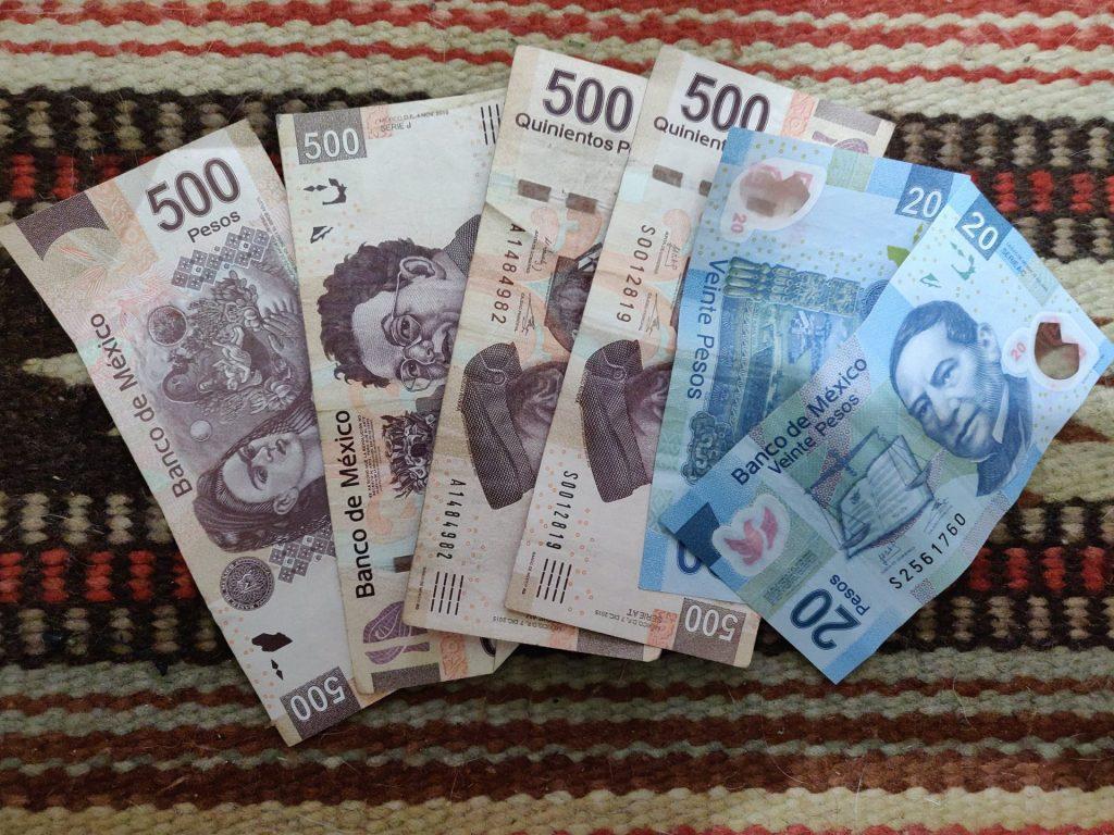Mexico pesos bills