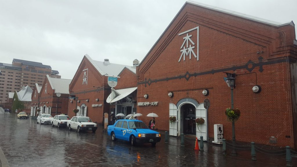 a rainy day in Hakodate brick warehouse district